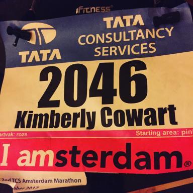 Amsterdam Marathon runner's bib. (Deseret Photo)