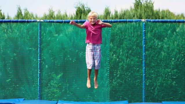 Arianne Brown writes about the importance of teaching children that play, such as jumping on a trampoline, is exercise. (Deseret Photo)