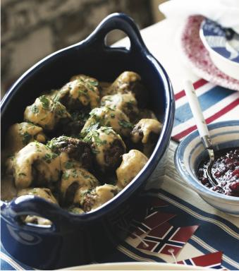 "Swedish Meatballs in ""Scandinavian Gatherings"" by Melissa Bahen. (Deseret Photo)"