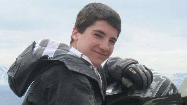 Parker Jensen rides an ATV in April 2008. (Deseret Photo)