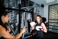 IMAGES: Alison Brie Swaps Her Wrestling Costume for Boxing Gloves