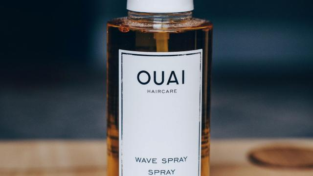 Ouia wave spray by Jen Atkin, a product used by model Hailey Baldwin. (Nina Westervelt/The New York Times)