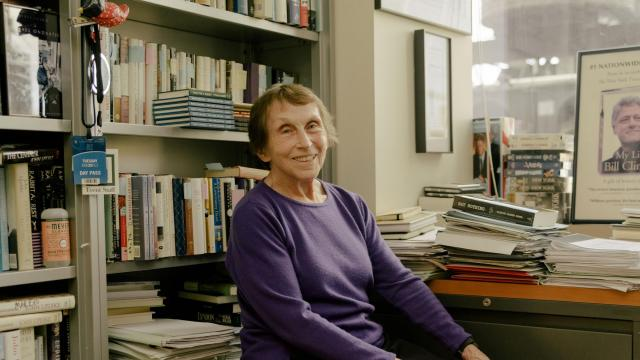 Kathy Hourigan, managing editor at Knopf, in her office at the Knopf headquarters in New York, Oct. 12, 2018. Hourigan, 77, celebrated her 55th anniversary at Knopf, making her the longest-tenured employee in its history, a legend within the confines of one office. (Daniel Dorsa/The New York Times)