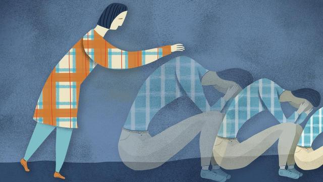 A sister wonders if she can honor her sibling's desire for privacy, even though he seems to be in a deep depression. (Heidi Younger/The New York Times) -- NO SALES; FOR EDITORIAL USE ONLY WITH NYT STORY DEAR SUGARS BY CHERYL STRAYED and STEVE ALMOND FOR NOV. 20, 2018, 2018. ALL OTHER USE PROHIBITED. --