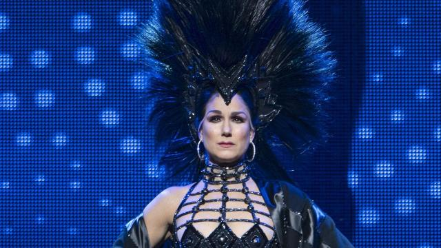 """-- PHOTO MOVED IN ADVANCE AND NOT FOR USE - ONLINE OR IN PRINT - BEFORE DEC. 2, 2018. -- FILE -- Stephanie J. Block in the musical """"The Cher Show,"""" in New York, Oct. 31, 2018. Thanks to the new musical, Bob Mackie, Cher's favorite designer, may finally get the respect he deserves. (Sara Krulwich/The New York Times)"""