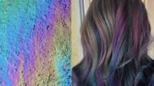 IMAGE: 'Oil Slick' Hair Is The Newest Color Trend For Brunettes