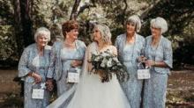 IMAGE: This Bride Had Four Grandmas As Her Flower Girls And The Photos Are Beautiful