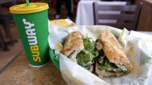 IMAGE: Subway is offering a buy-one-get-one deal on footlongs for a limited time