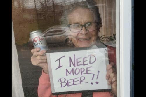 93-year-old Told The Internet She Needed More Beer, Then Coors Light Delivered 150 Cans (Simplemost Photo)