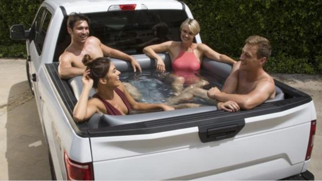 Turn your truck bed into a pool with this $45 inflatable liner (Don't Waste your Money Photo)