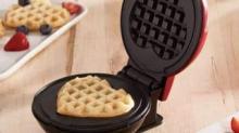 IMAGE: Mini Waffle Maker Makes The Most Adorable Heart-shaped Treats