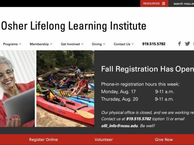 Osher Lifelong Learning Institute open for enrollment