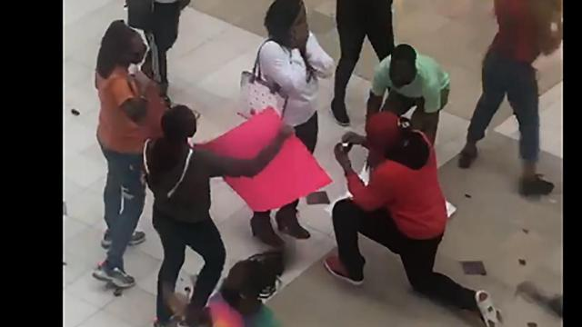 Triangle Town Center Mall in Raleigh was the scene of an elaborate Valentine's Day proposal, with the video going viral.
