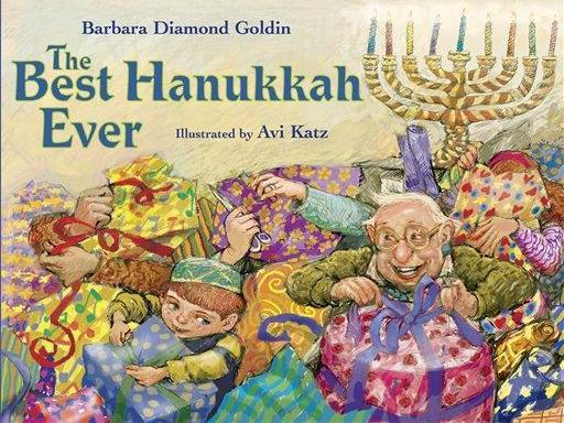 """This undated photo provided by Marshall Cavendish Children's Books shows the cover of """"The Best Hanukkah Ever,"""" by Barbara Diamond Goldin. (AP Photo/Marshall Cavendish Children's Books)"""
