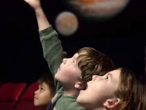 Children enjoy the shows at Morehead Planetarium in Chapel Hill.