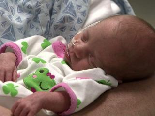Addison is one of four babies born to Sherri and David Norris of Raleigh earlier this month.
