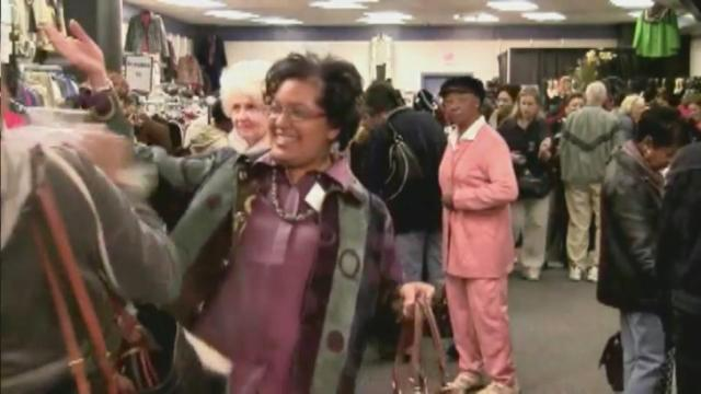 Women shop the annual Dress For Success sale.