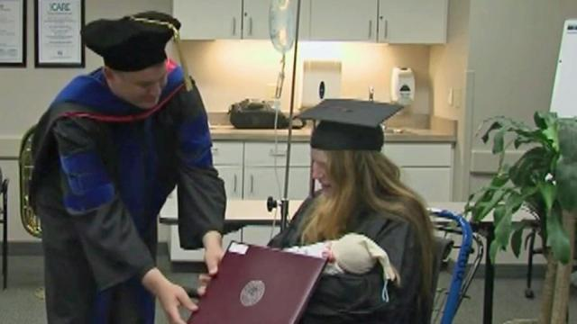 Juliet Smith was scheduled to graduate from Guilford College on Saturday, but she started going into labor late Friday night. She gave birth and was still in the hospital while her classmates got their diplomas.