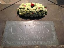 C.S. Lewis Memorial in Poets' Corner at Westminster Abbey. (Deseret Photo)