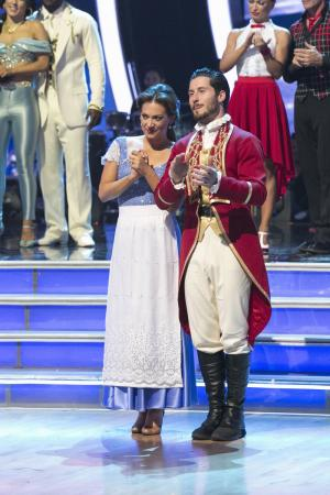 "Ginger Zee and Valentine Chmerkovskiy transform into some of the most magical Disney characters and celebrate the magnificence of ""Disney Night,"" on ""Dancing with the Stars,"" live, on April 11, 2016, on ABC. (Deseret Photo)"