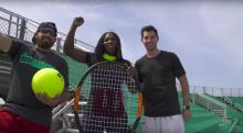 IMAGE: The Clean Cut: Serena Williams, Dude Perfect take on trick tennis shots