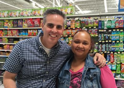 Jason Wright and his friend Chervon cross paths at their local Wal-Mart in Woodstock, Virginia, in June 2016. (Deseret Photo)
