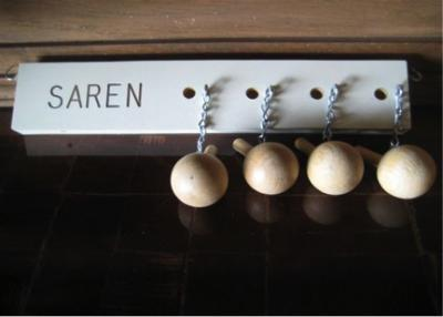The Eyres suggest making a chart, such as this pegboard, for children to mark which of the tasks they completed for credit each day. (Deseret Photo)