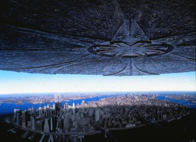 "New York City under attack from aliens in ""Independence Day,"" which was released in 1996. (Deseret Photo)"
