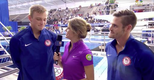 "David Boudia and Steele Johnson qualified for the Rio Olympics. After their winning dive, the pair expressed their gratitude to God and their desire to be ""rooted in Christ."" (Deseret Photo)"