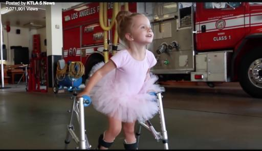 Finley Smallwood dances in a video recently uploaded by the Los Angeles Fire Department. (Deseret Photo)