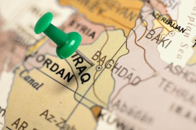Location Iraq. Green pin on the map. (Adobe) (Deseret Photo)