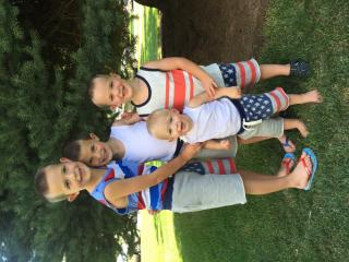Carmen Rasmusen Herbert's sons, Boston, left, Beckham, Benson and Briggs boys on the Fourth of July. Herbert and her husband have been focusing on teaching their sons kindness. (Deseret Photo)