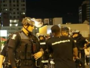 The San Diego native traveled to Charlotte, North Carolina, this week to give free hugs to police officers who were monitoring the recent round of protests, according to FOX-5. (Deseret Photo)