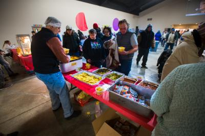 The Christian Life Center and Rescue Mission of Salt Lake, host a day-long party in Salt Lake City on Jan. 1, 2016, to help the homeless members of the community. (Deseret Photo)