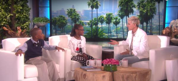 Ellen DeGeneres talks with Noah and Zoë, the pair behind a viral list of rules. (Deseret Photo)