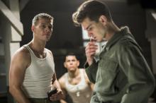"Smitty (Luke Bracey, left) and Desmond Doss (Andrew Garfield, right) in ""Hacksaw Ridge."" Doss saved dozens of lives on Okinawa without carrying a weapon, earning the respect of his companions and, eventually, a medal of honor. The film explores his success in staying true to his beliefs, in spite of how few people supported him. (Deseret Photo)"