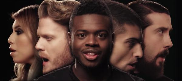The five members of Pentatonix sing in their latest YouTube video. (Deseret Photo)
