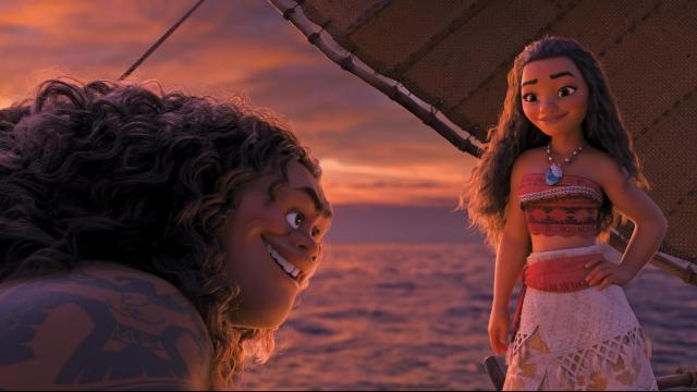 "Demigod Maui (voice of Dwayne Johnson) is reluctant to help adventurous teenager Moana (voice of Auli'i Cravalho), who is determined to become a master wayfinder and save her people in Disney's ""Moana."" (Deseret Photo)"
