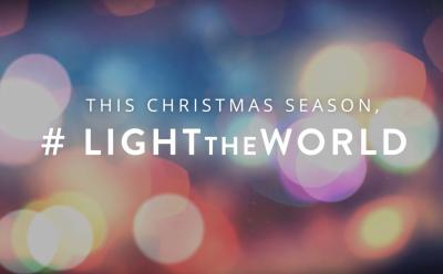 "The LDS Church's Christmas initiative invites all to ""light the world"" by serving others throughout the Christmas season. (Deseret Photo)"