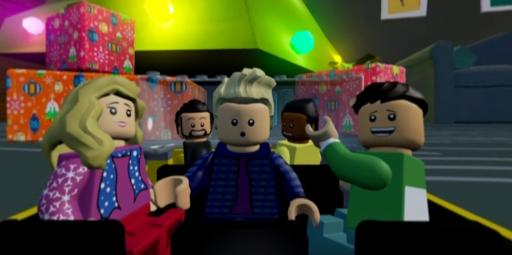 "Pentatonix sings ""Up on the Housetop"" as Lego figures. (Deseret Photo)"