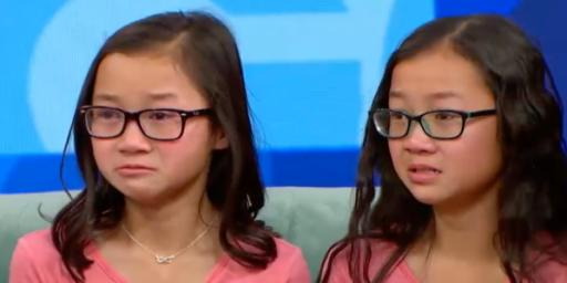 "Audrey and Gracie, two twins separated as babies, were reunited on ""Good Morning America"" Wednesday. (Deseret Photo)"