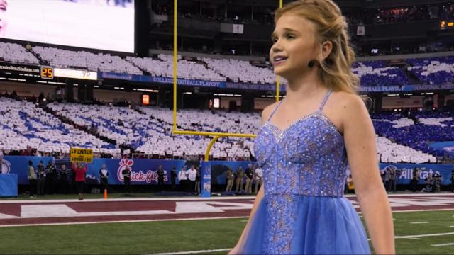 Andi Jackson's wish comes true as she sings at the Peach Bowl (Deseret Photo)