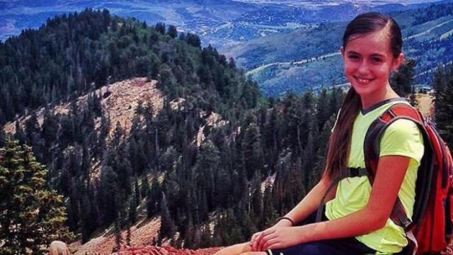 Teresa Vehar's daughter, Alyssa, poses for a picture on the Wasatch Crest trail above Desolation Lake. (Deseret Photo)