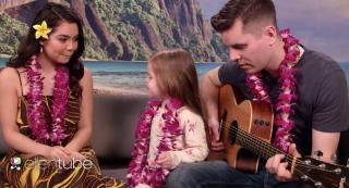 Claire Crosby does a duet with Auli'i Cravalho, who voiced Moana (Deseret Photo)
