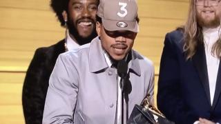 Chance the Rapper claimed the first award of the night at Sunday night's Grammy Awards, capturing the Best New Artist award to open the show. (Deseret Photo)