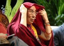 The Dalai Lama speaks at the Huntsman Center in Salt Lake City on Tuesday, June 21, 2016. (Deseret Photo)