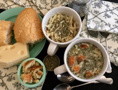 Pauper's Soup, enhanced with Herbes de Provence. (Deseret Photo)