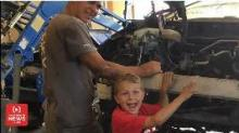 IMAGE: 8-year-old boy says angels helped him save his father's life