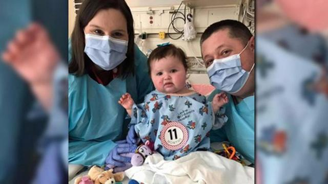 Ella Kate Leirener was born with inoperable tumors on her heart.