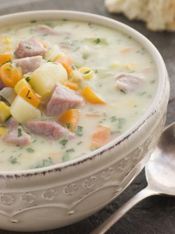 Adding more vegetables to your diet is easy with this hearty and delicious corn chowder. Use low-fat ingredients to reduce the calories. (Deseret Photo)